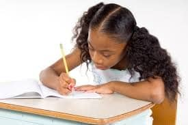girl with dysgraphia